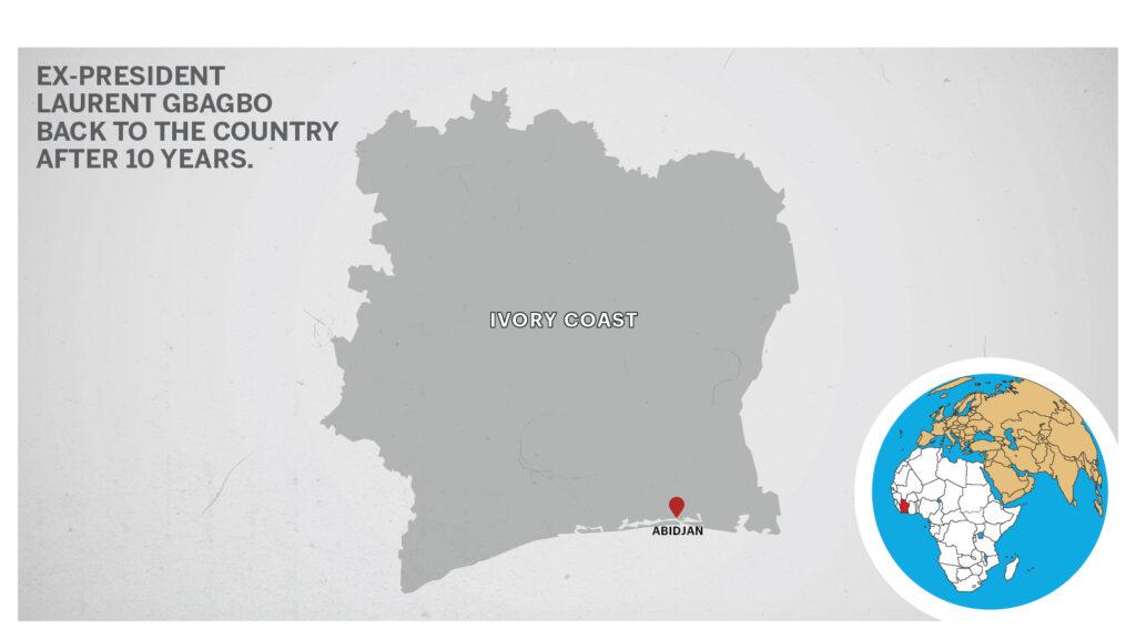 Map of Abidjan Ivory Coast