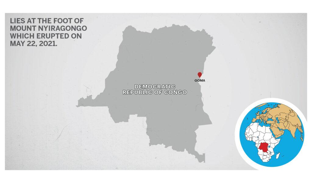 Map of Goma Democratic Republic of Congo