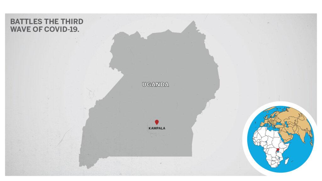 Map of Kampala Uganda