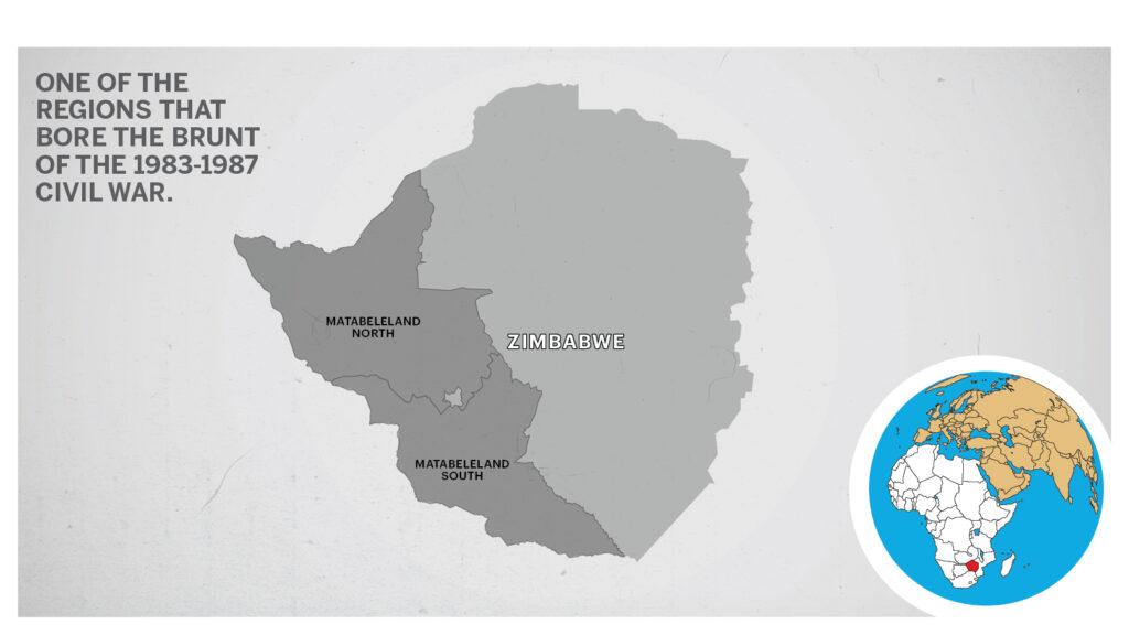 Map of Matabeleland Zimbabwe