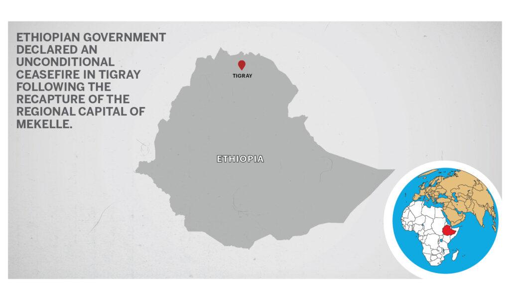 Map of Tigray Ethiopia