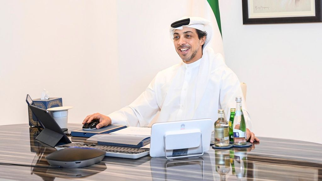 His Highness Sheikh Mansour bin Zayed Al Nahyan, Deputy Prime Minister and Minister of Presidential Affairs has announced launch of the first edition of the Global Media Congress to be held in Abu Dhabi in November next year. (الشيخ منصور بن زايد, @HHMansoor/Twitter)