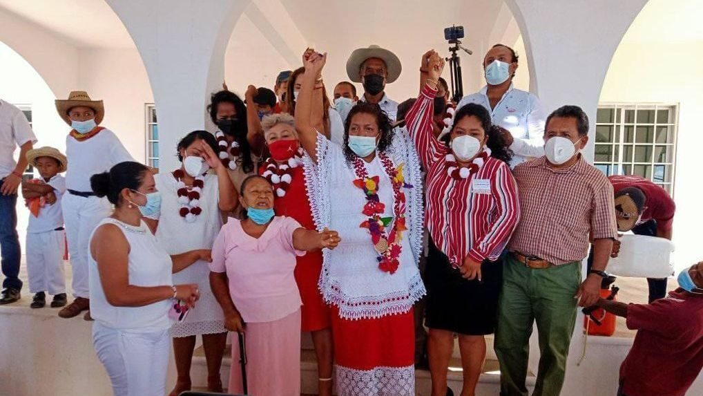 Mayor Leticia Javier celebrates the self-proclamation of Huehuetán as an Afro-descendant municipality. (Courtesy of Leticia Javier Marín)